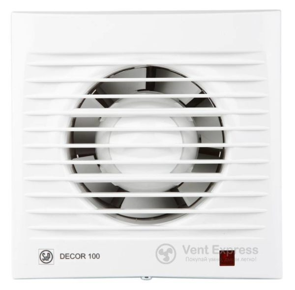 Вытяжной вентилятор Soler&Palau DECOR-100 S