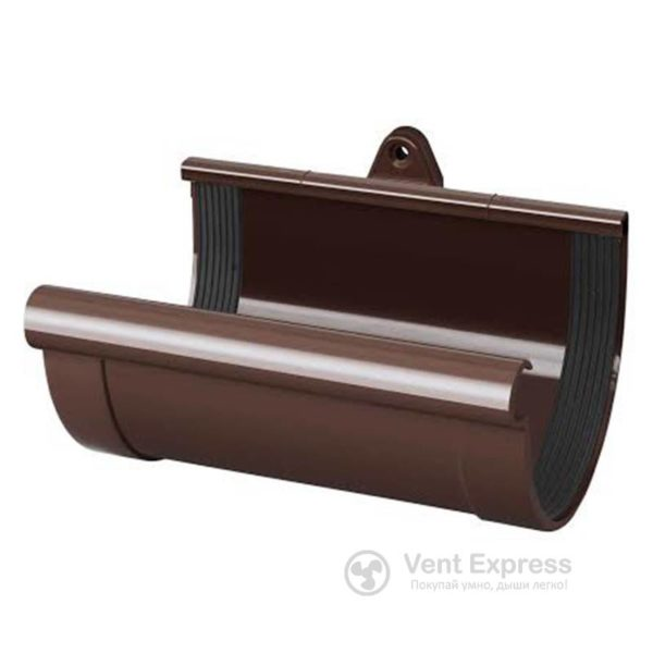 Муфта желоба RainWay 130 мм, коричневая