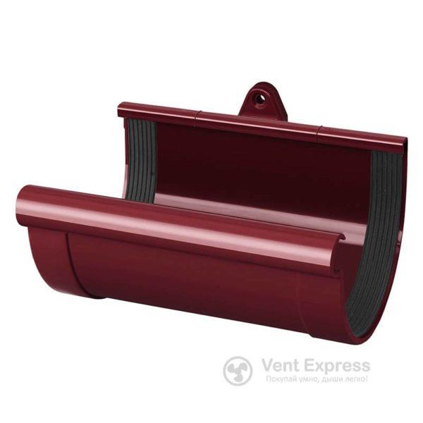 Муфта желоба RainWay 130 мм, красная
