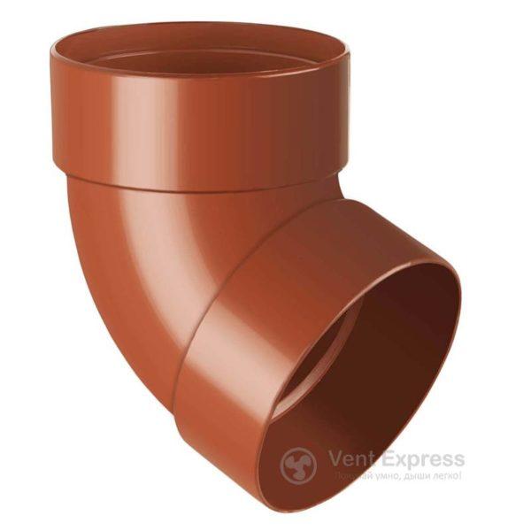 Отвод трубы RainWay двухмуфтовый 67° 130 мм, кирпичный