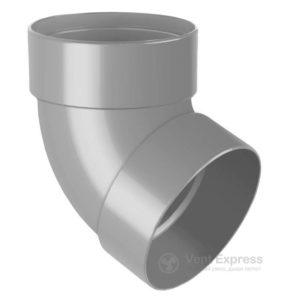 Отвод трубы RainWay двухмуфтовый 67° 130 мм, серый