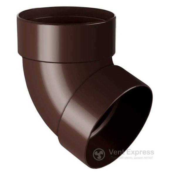 Отвод трубы RainWay двухмуфтовый 67° 90 мм, коричневый