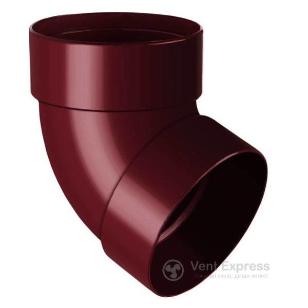 Отвод трубы RainWay двухмуфтовый 67° 90 мм, красный