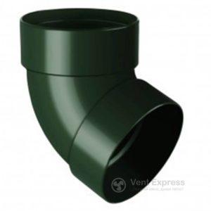 Отвод трубы RainWay двухмуфтовый 67° 90 мм, зеленый