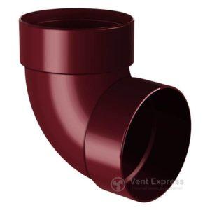 Отвод трубы RainWay двухмуфтовый 87° 130 мм, красный