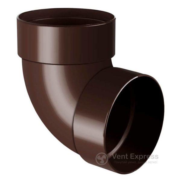 Отвод трубы RainWay двухмуфтовый 87° 90 мм, коричневый