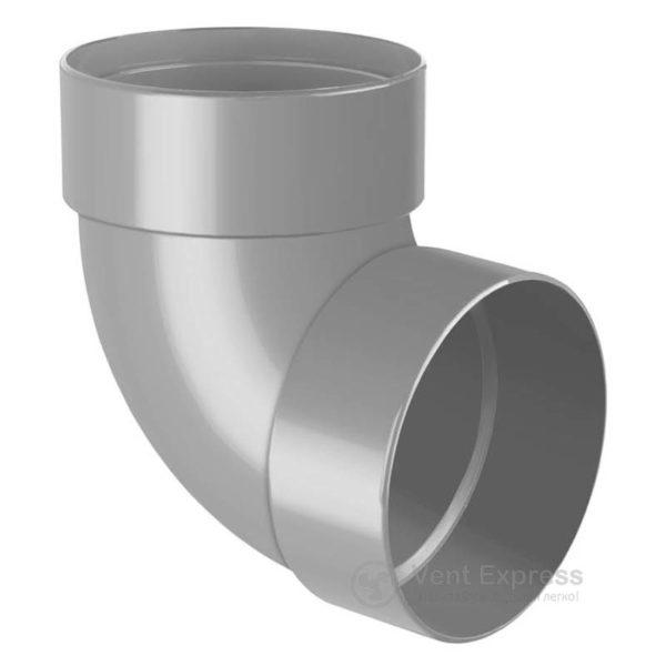 Отвод трубы RainWay двухмуфтовый 87° 90 мм, серый