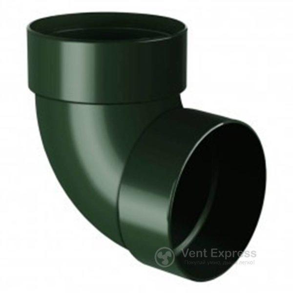 Отвод трубы RainWay двухмуфтовый 87° 90 мм, зеленый