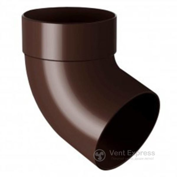 Отвод трубы RainWay одномуфтовый 67° 130 мм, коричневый