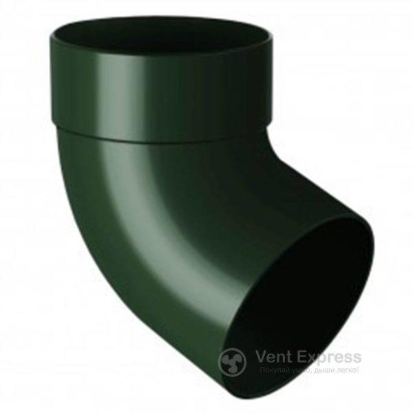 Отвод трубы RainWay одномуфтовый 67° 130 мм, зеленый