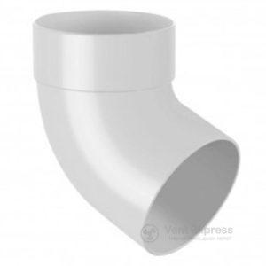 Отвод трубы RainWay одномуфтовый 67° 90 мм, белый