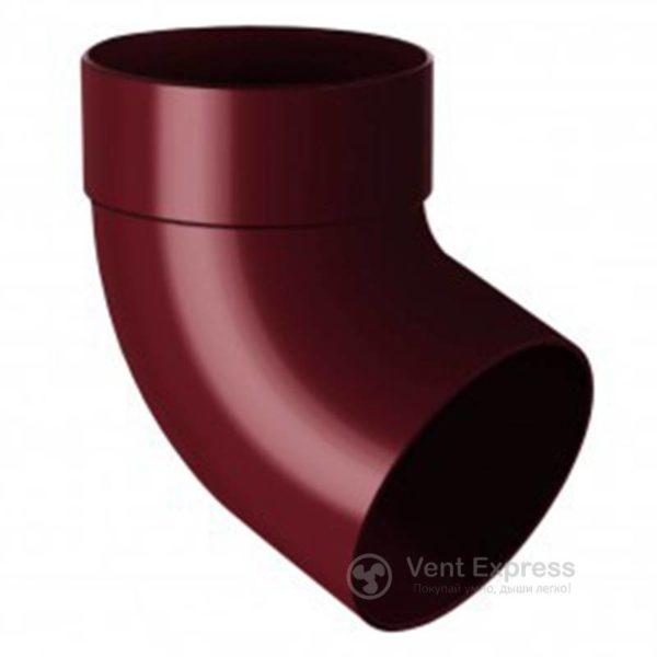 Отвод трубы RainWay одномуфтовый 67° 90 мм, красный