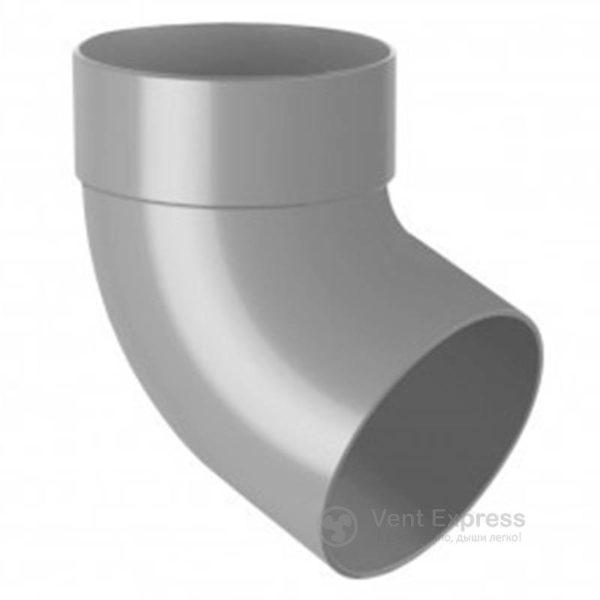 Отвод трубы RainWay одномуфтовый 67° 90 мм, серый