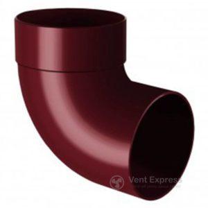Отвод трубы RainWay одномуфтовый 87° 130 мм, красный