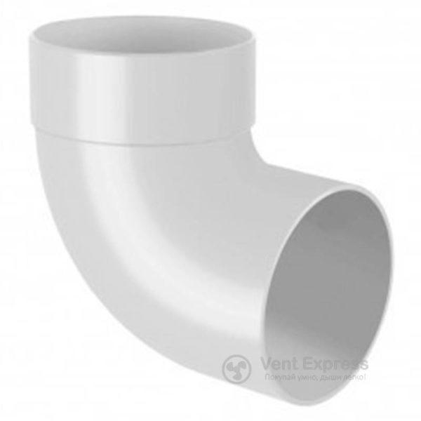 Отвод трубы RainWay одномуфтовый 87° 90 мм, белый