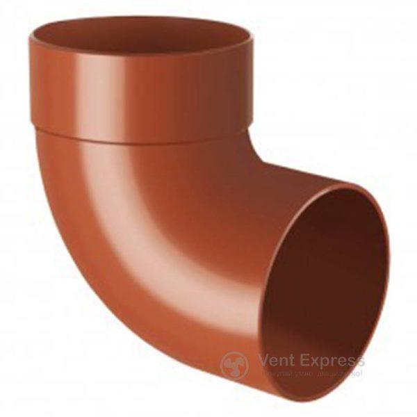 Отвод трубы RainWay одномуфтовый 87° 90 мм, кирпичный