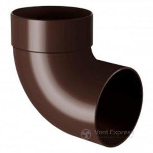 Отвод трубы RainWay одномуфтовый 87° 90 мм, коричневый