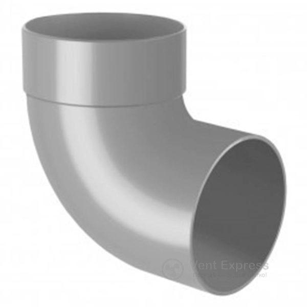 Отвод трубы RainWay одномуфтовый 87° 90 мм, серый