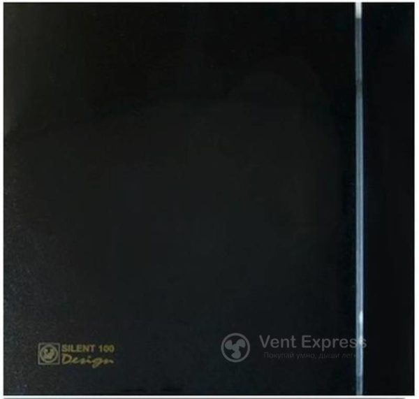 Вытяжной вентилятор Soler&Palau SILENT-100 CZ BLACK DESIGN 4C