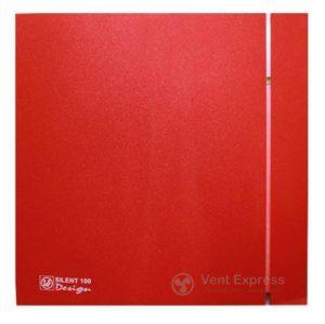 Вытяжной вентилятор Soler&Palau SILENT-100 CRZ RED DESIGN 4C