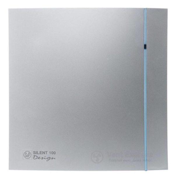 Вытяжной вентилятор Soler&Palau SILENT-100 CHZ SILVER DESIGN 3C