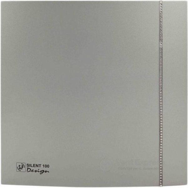 Вытяжной вентилятор Soler&Palau SILENT-100 CZ SILVER DESIGN SWAROVSKI