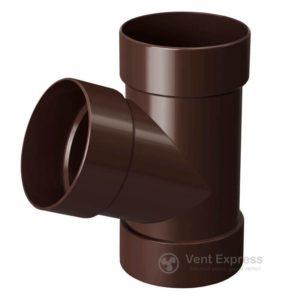 Тройник трубы RainWay 130 мм, коричневый