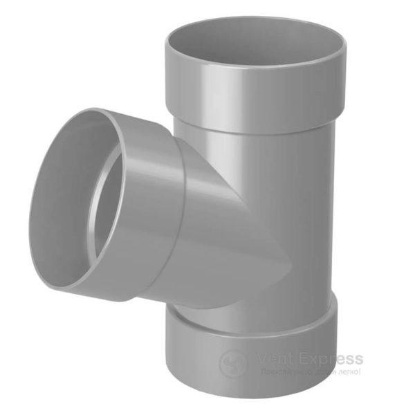 Тройник трубы RainWay 130 мм, серый