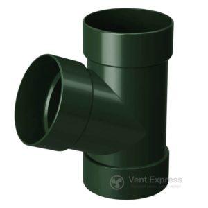 Тройник трубы RainWay 130 мм, зеленый