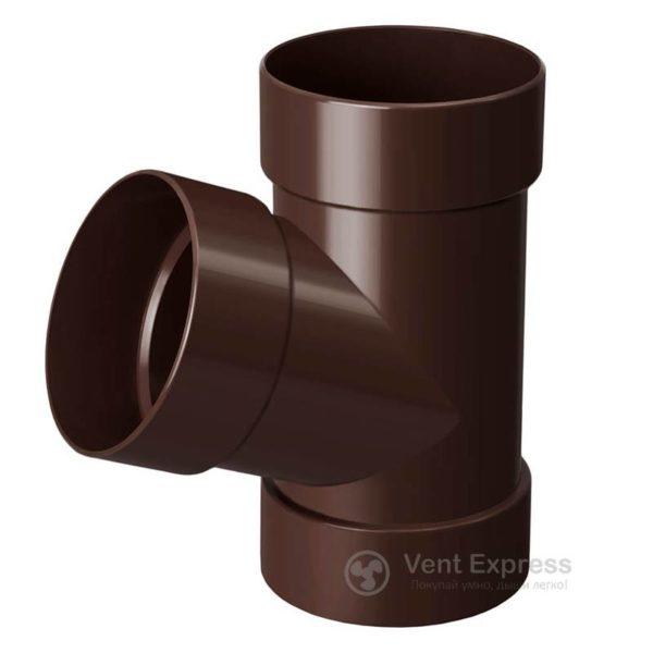 Тройник трубы RainWay 90 мм, коричневый