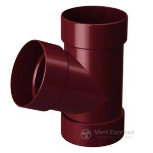 Тройник трубы RainWay 90 мм, красный