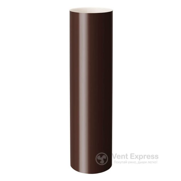 Труба водосточная RainWay 90×1000 мм, коричневая
