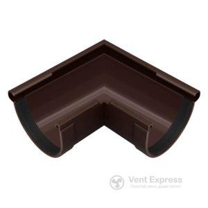 Угол желоба RainWay наружный 90° 130 мм, коричневый