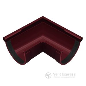 Угол желоба RainWay наружный 90° 130 мм, красный