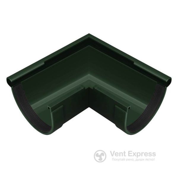 Угол желоба RainWay наружный 90° 130 мм, зеленый