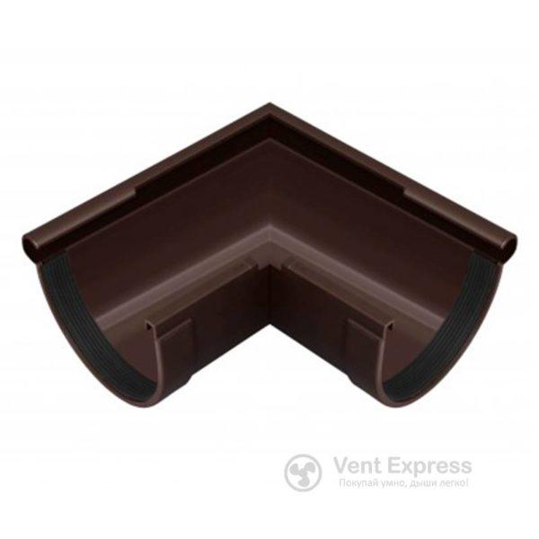 Угол желоба RainWay наружный 90° 90 мм, коричневый