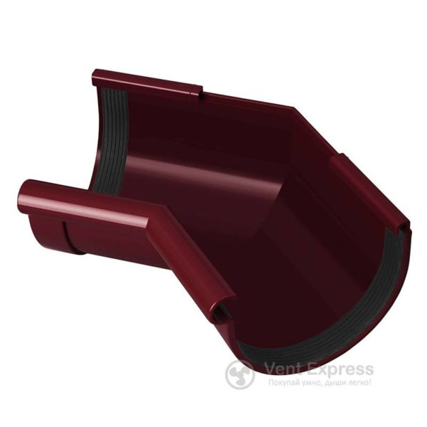 Угол желоба RainWay внутренний 135° 130 мм, красный