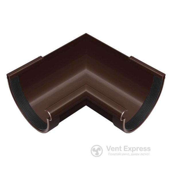 Угол желоба RainWay внутренний 90° 130 мм, коричневый