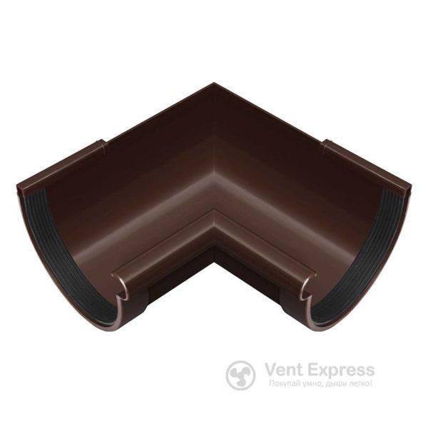 Угол желоба RainWay внутренний 90° 90 мм, коричневый