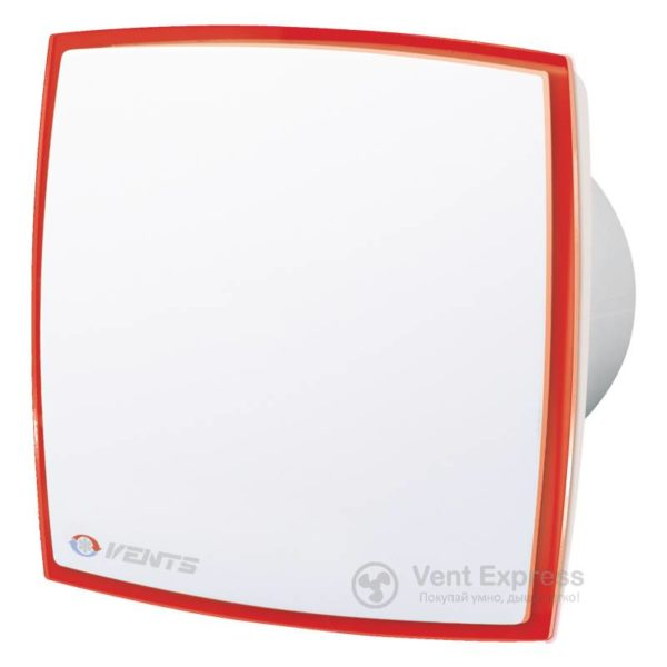 Вытяжной вентилятор VENTS 100 ЛД Лайт Т красный