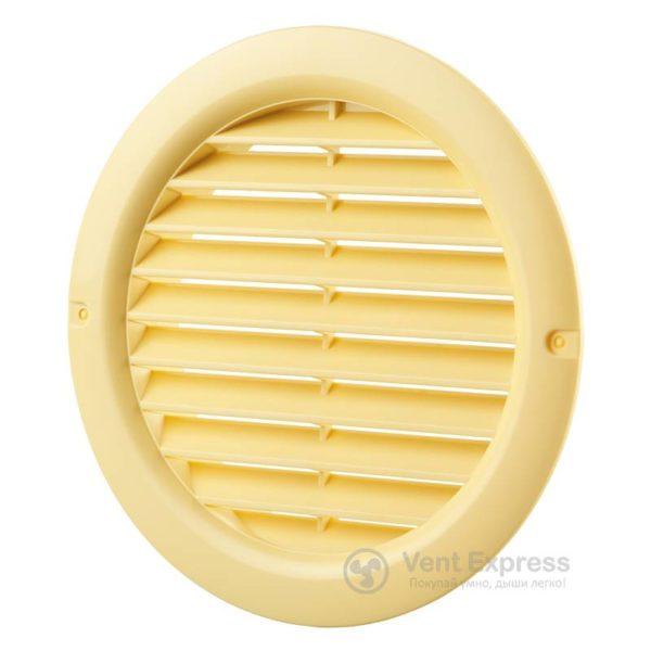 Приточно-вытяжная решетка круглая VENTS МВ 100 бВ бежевая