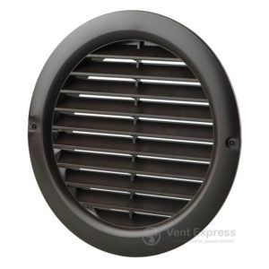 Приточно-вытяжная решетка круглая VENTS МВ 100 бВ коричневая
