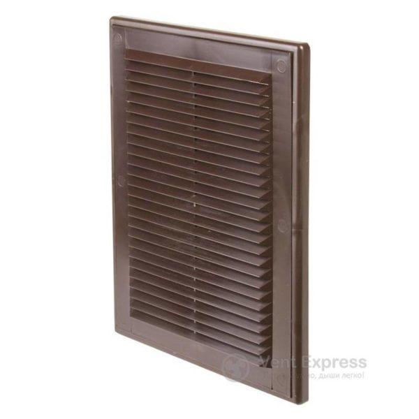 Приточно-вытяжная решетка VENTS МВ 125с коричневая