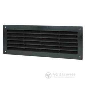 Приточно-вытяжная решетка дверная VENTS МВ 350с черная