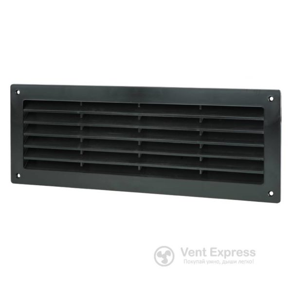 Приточно-вытяжная решетка дверная VENTS МВ 350 черная
