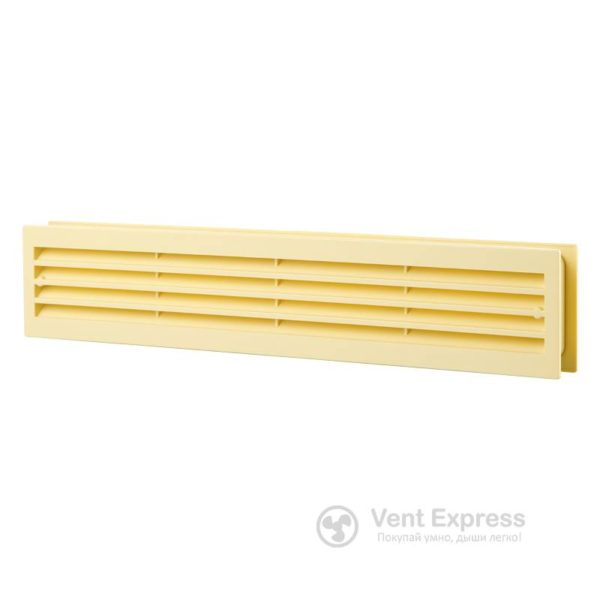 Приточно-вытяжная решетка дверная VENTS МВ 430/2 бежевая