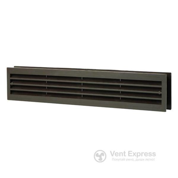 Приточно-вытяжная решетка дверная VENTS МВ 430/2 коричневая