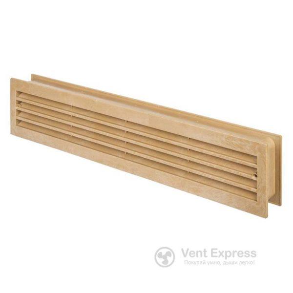 Приточно-вытяжная решетка дверная VENTS МВ 430/2 дуб светлый