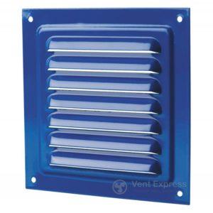 Приточно-вытяжная решетка металлическая однорядная VENTS МВМ 125c синяя