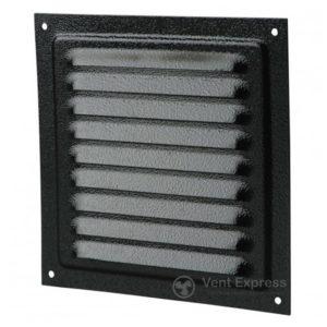 Приточно-вытяжная решетка металлическая однорядная VENTS МВМ 300с черная